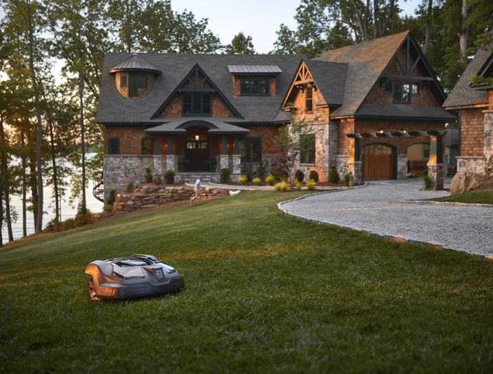 Robotic lawn mowing